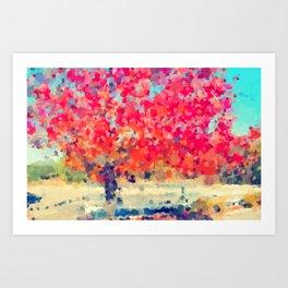 Orange Tree Watercolor digital Art Print