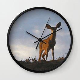 Young Deer Wall Clock