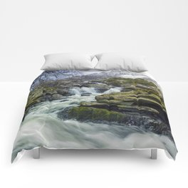 Snow Covered Tryfan Comforters