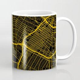 Los Angeles California City Map | Gold USA City Street Map | America Cities Maps Coffee Mug