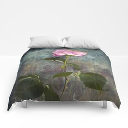 Single Wilted Rose Comforters