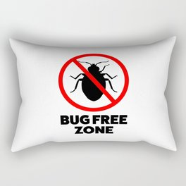 Bug free zone Rectangular Pillow