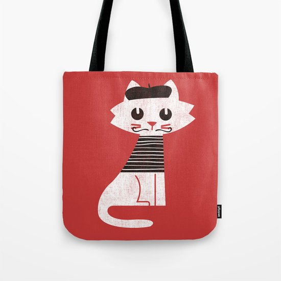 Mark the cat goes to Paris Tote Bag