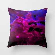 A Rose in Space Throw Pillow