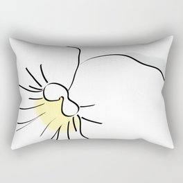 White Pansy Rectangular Pillow