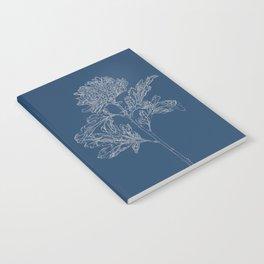Chrysanthemum Blueprint Notebook