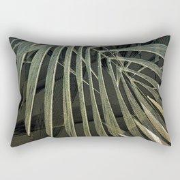 Tropical Palm Print Multi-Colored Rectangular Pillow