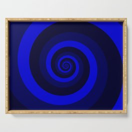 blue vortex Serving Tray