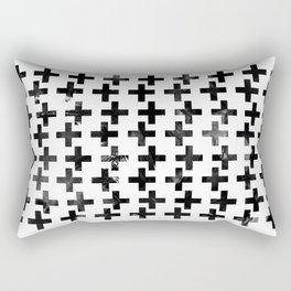 Watercolor Crosses Rectangular Pillow