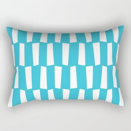 Sky blue and white abstract shapes pattern Rectangular Pillow