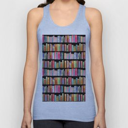 Vintage Book Library for Bibliophile Unisex Tank Top