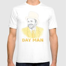 Day Man White Mens Fitted Tee X-LARGE