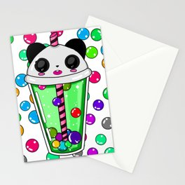 Bubble tea panda Stationery Cards