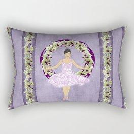 Ballerina Orchid Wreath Rectangular Pillow