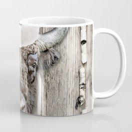 Christmas Bison, Christmas Buffalo, Rustic Cabin Christmas Coffee Mug