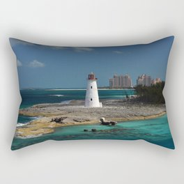 Nassau Harbour Lighthouse Rectangular Pillow