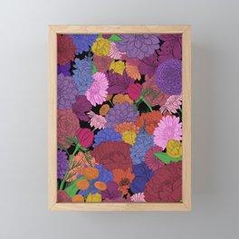 Bouquet of Flowers - Color Version Framed Mini Art Print