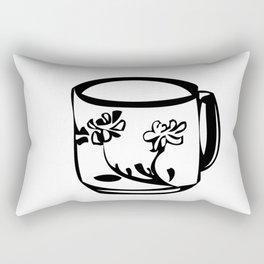 Flower teacup Rectangular Pillow