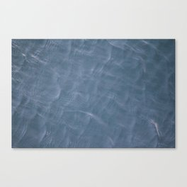 Caribbean Blue Water Ripples Canvas Print