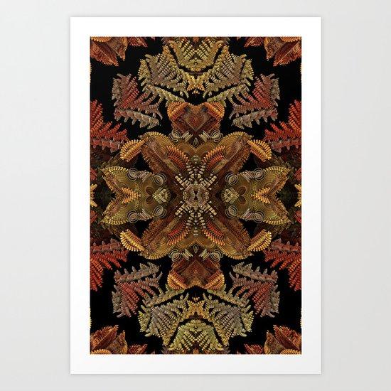 Fall Fractal Wreath Art Print