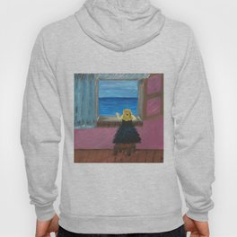 Woman at the Window at Figueres Hoody