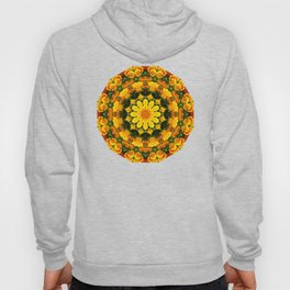 Floral mandala-style, California Poppies Hoody
