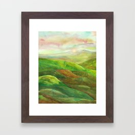 Lines in the mountains XVI Framed Art Print