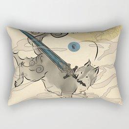 The Great Grey Wolf Sifkami Rectangular Pillow