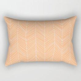 burnt peach lines Rectangular Pillow