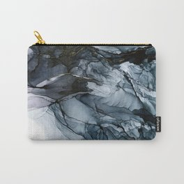 Dark Payne's Grey Flowing Abstract Painting Carry-All Pouch