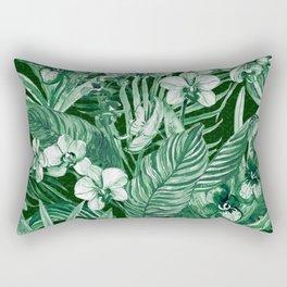Emerald Tropical Bohemian Rectangular Pillow