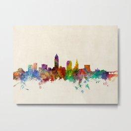 Cleveland Ohio Skyline Cityscape Metal Print