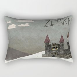 At the Castle - inspired by Zebrat Rectangular Pillow