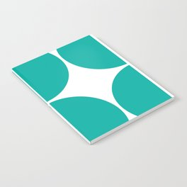 Mid Century Modern Turquoise Square Notebook