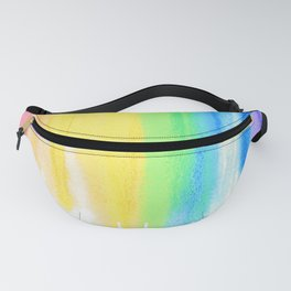 Rainbow Watercolor Drip Fanny Pack