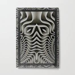 Exo-skelton 3D Optical Illusion Metal Print