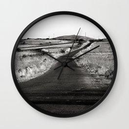 Abandoned Country Road - Sardinia - Italy Wall Clock