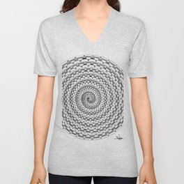 spiral 3 Unisex V-Neck