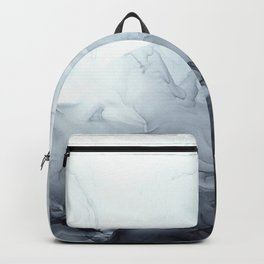 Gray Black Gradient Flowing Abstract Painting Backpack