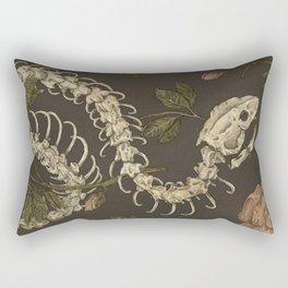 Snake Skeleton Rectangular Pillow