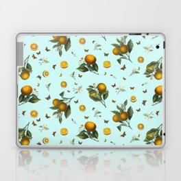 Oranges and Butterflies on Mint Laptop & iPad Skin