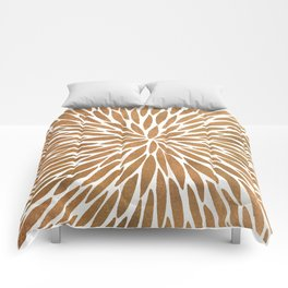 Rose Gold Burst Comforters