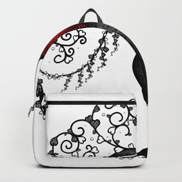 Tree Of Hearts - Black & White Backpack