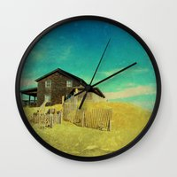 the cure Wall Clocks featuring The Cure For Anything by Brianne Lanigan