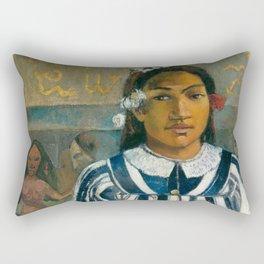 The Ancestors of Tehamana by Paul Gauguin Rectangular Pillow