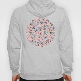 Spring Gardening - peach blossoms on cream Hoody