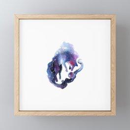 Constellation of the fox Framed Mini Art Print