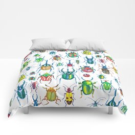 colours oc beetles pattern Comforters