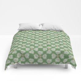 Hot Mess Gilligan on Green Comforters