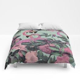 Flamingo Gardens Comforters